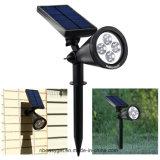 """Les lumières solaires améliorées imperméabilisent """"Marche/Arrêt"""" automatique d'horizontal d'éclairage de projecteur de lumière extérieure de mur pour le syndicat de prix ferme de voie d'allée de jardin de yard (la lumière blanche chaude)"""
