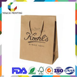 Дешевая хозяйственная сумка бумаги Kraft с бумажной ручкой для Suppermarket
