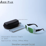 Haute lunetterie rouge réglable de laser de diodes de la transmittance 35% Laser&808/980nm de performance du bâti #36