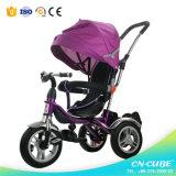 3車輪は手で押す子供か赤ん坊の三輪車またはベビーカー(6688A)を