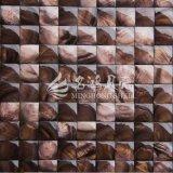Escudo de água doce telha tingida do mosaico da face 20*20mm do arco da cor