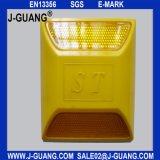 Желтый пластичный стержень дороги с двойными рефлекторами (JG-R-05)