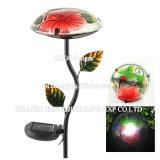 Indicatore luminoso solare del giardino dell'indicatore luminoso del fungo del palo della rana del metallo di modo