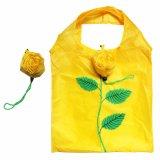 190t pliables faits sur commande réutilisés bon marché 210d imperméabilisent le sac d'emballage d'achats de cordon