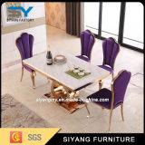 居間のためのステンレス鋼の大理石のダイニングテーブル