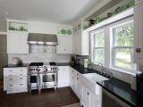 Hoher glatter Acrylende-Küche-Schrank 2017