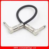 Effekt-Pedal-Audiostecker-Änderung am Objektprogramm Ampere-Kabel-Leitungskabel gewinkelt für Gitarren-Netzkabel