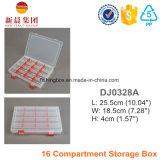16 caixa plástica organizada compartimento dos divisores 6 dos compartimentos 12