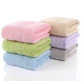 100%の純粋な綿の浴室タオル、着色された吸水タオル