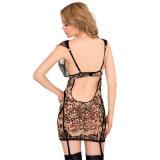 Marchandises prêtes de vente chaude différente de taille bon marché et qualité plus des vêtements de léopard de taille