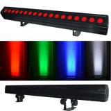 RGBW impermeabilizan la luz de la colada de la pared de 24*10W LED