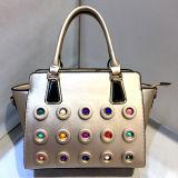 Späteste Entwerfer-Form-Handtaschen-Damenbunter verzierter Tote-Beutel-Fabrik-Preis Sy8026