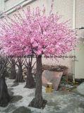 Albero realistico artificiale del fiore della pesca della decorazione di cerimonia nuziale di prezzi di fabbrica