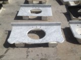 Белый Carrara/белый мрамор/отполировали мрамор тщеты верхний/мраморный верхние части/естественную верхнюю часть камня/ванной комнаты