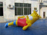 Гигантские раздувные персонажи из мультфильма, раздувной рекламируя Rental