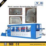 Máquina plástica automática de Thermoforming do recipiente de embalagem com empilhador