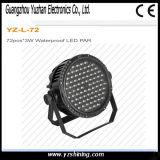 Licht 72pcsx3w des Stadiums-DMX512 imprägniern LED-NENNWERT Beleuchtung