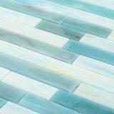 Mosaico di vetro delle mattonelle della stanza da bagno blu del raggruppamento del mercato del materiale da costruzione di Foshan