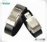 Elegante flash de couro com USB Flash Drive com baixo custo (WY-L01)