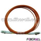 Duplex de fibre optique de millimètre de cordon de connexion de LC/PC-LC/PC
