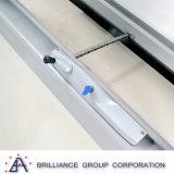 Guichet en aluminium glacé par double isolé glacé par double d'interruption thermique de cintreuse de châssis de fenêtre en aluminium