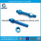 DIN975 boulons de goujon de la pente 8.8 de l'acier inoxydable SS304 Ss316 avec la surface de teflon