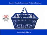 2016 In het groot Plastic het Winkelen van de Supermarkt Manden die Mand Rolling