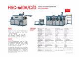 Máquina plástica do copo de Hsc-660d