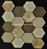 Mosaico de cristal mezclado de cerámica del crujido hexagonal con estilo del hielo 2016