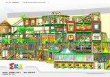 Аттестованная TUV спортивная площадка джунглей опирающийся на определённую тему крытая для детей