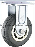 Qualität Schwer-Aufgabe Grey PU Caster mit Brake Flame Caster