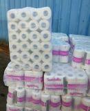 Roulis de tissu de toilette prix 100% de pulpe de Vierge de 2 plis raisonnable