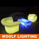 Canapé d'hôtel lumineux LED à chaud