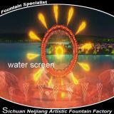 Laser della camera a pioggia e fontana di acqua del fuoco