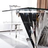 金属が付いている2016現代最新のミラーのガラス上のダイニングテーブル