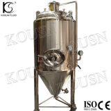 ステンレス鋼の冷水のジャケットの円錐発酵槽タンク
