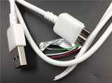 Белый кабель Port данным по USB Tvc 1.6A для переходники примечания 3 Samsung (XSSJ-003)