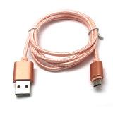 Alumínio Shell Nylon Trançado Dados Sincronização Carregamento Micro Cabo USB