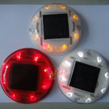Round Design Plastic Flashing 3m Reflector LED Solar Road Stud