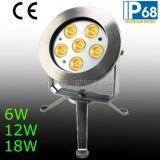 IP68 6W 12W 18W LED 수중 반점 빛