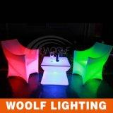 新しいLEDのカーブの椅子LED Moder棒椅子