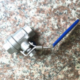 Bsp Threaded端のDIN Stainless Steel 2PC Ball Valve