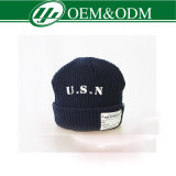 Custom Sports Knitted Acrylic Winter Beanie Hat