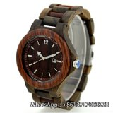 Relógio de madeira Bg162 de quartzo da zebra de madeira barata nova das máquinas de lixar do estilo