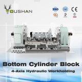 Workholding hidráulico para o bloco de cilindro inferior