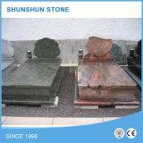 단순한 설계 빨간 화강암 묘석 공장