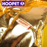 Глянцеватые золотистые одежды рождества для одежд собаки и куртки любимчика