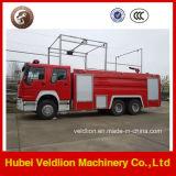 Coche de bomberos del mecanismo impulsor LHD/Rhd 10m3/10cbm/10000liters de HOWO 6X4