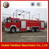 HOWO 6X4 Drive LHD / RHD 10m3 / 10cbm / 10000liters coche de bomberos
