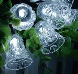 Tintement Bell Lh-Ss12 de lumière de chaîne de caractères de Noël de Neuf-Année de mariage de l'énergie solaire 20-LED
